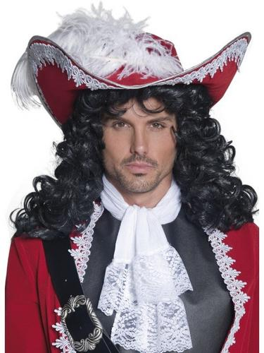 Red Pirate Fancy Dress Hat Thumbnail 1