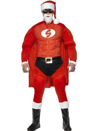 Super Fit Santa Fancy Dress Costume Thumbnail 1