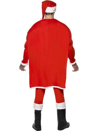 Super Fit Santa Fancy Dress Costume Thumbnail 3