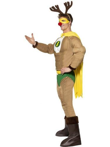 Super Reindeer Fancy Dress Costume Thumbnail 3