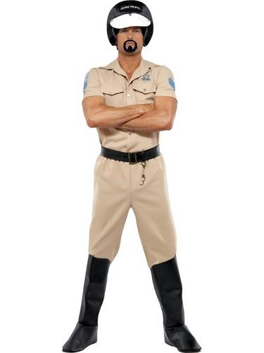 Village People Motorcycle Cop Fancy Dress Costume Thumbnail 1
