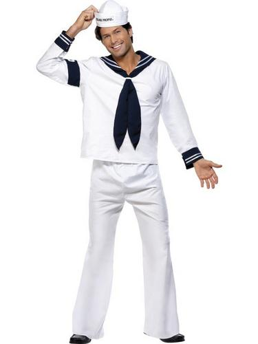 Village People Navy Fancy Dress Costume Thumbnail 1
