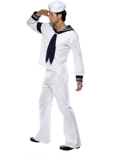 Village People Navy Fancy Dress Costume Thumbnail 2