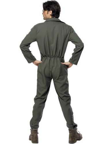 Top Gun Jumpsuit Fancy Dress Costume Thumbnail 2
