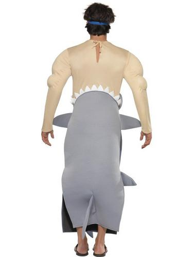 Man Eating Shark Fancy Dress Costume Thumbnail 3