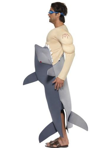 Man Eating Shark Fancy Dress Costume Thumbnail 2