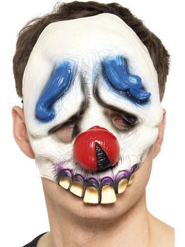 Dopey the Clown Chinless Face Fancy Dress Mask Thumbnail 1