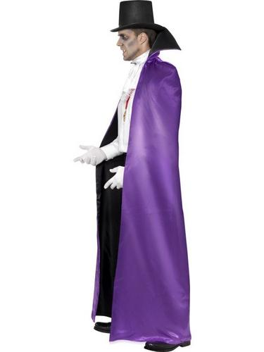 Black and Purple Count Reversible Cape Thumbnail 2
