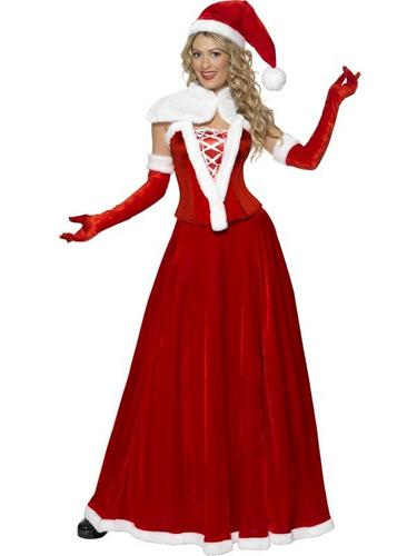 Ladies Santa Fancy Dress Costume Thumbnail 1