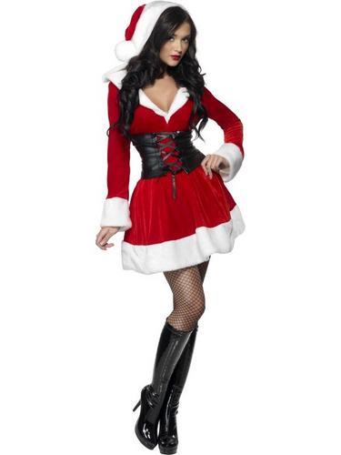 Fever Hooded Santa Fancy Dress Costume Thumbnail 2