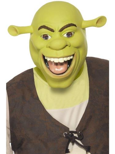 Shrek Latex Fancy Dress Mask Thumbnail 1