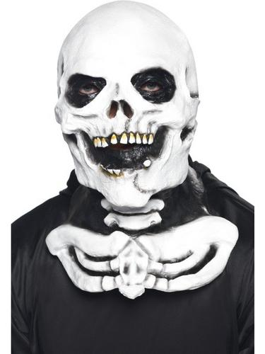 Skeleton Fancy Dress Mask with Chest Piece Thumbnail 1