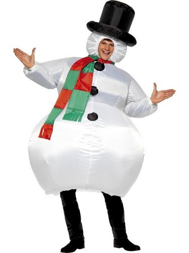 Inflatable Snowman Costume Thumbnail 1