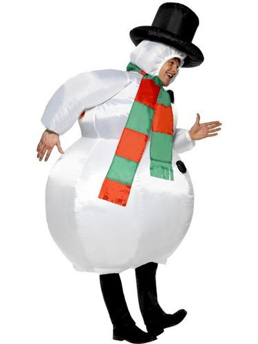 Inflatable Snowman Costume Thumbnail 2