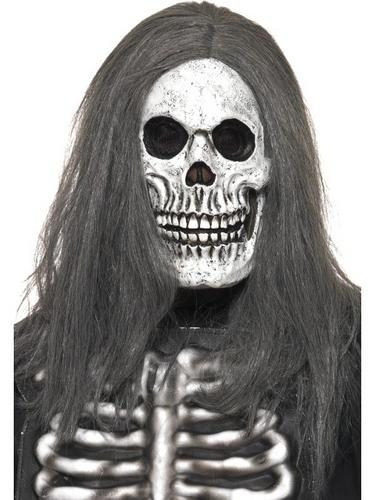 Sinister Skeleton Rubber Fancy Dress Mask Thumbnail 1