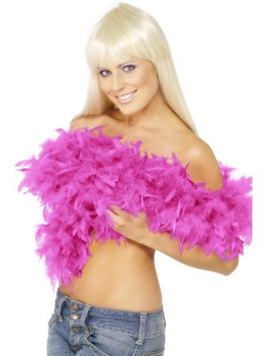 Feather Boa Shocking Pink Thumbnail 1