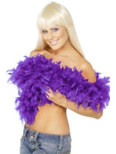 Feather Boa Purple Thumbnail 1