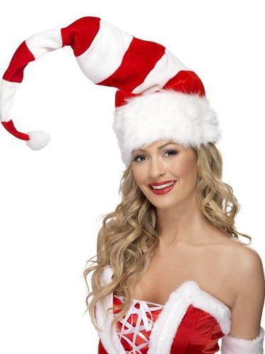 Striped Santa Fancy Dress Hat Thumbnail 1