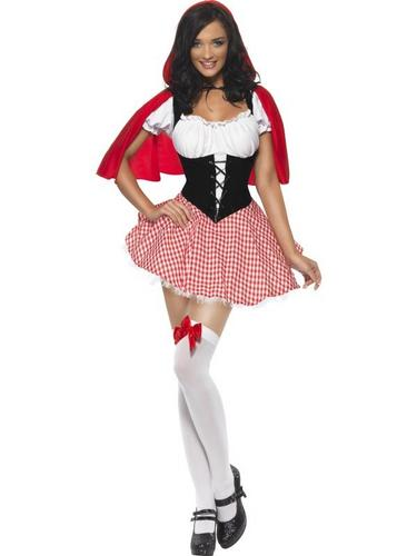 Sexy Red Riding Hood Fancy Dress Costume Thumbnail 2