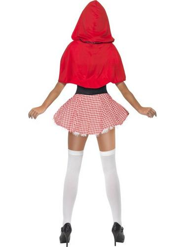 Sexy Red Riding Hood Fancy Dress Costume Thumbnail 3