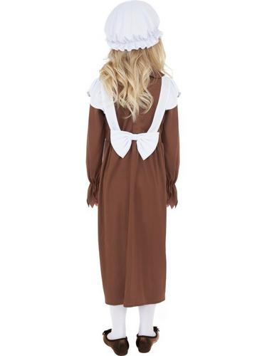 Girls Poor Victorian Fancy Dress Costume Thumbnail 2