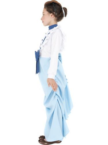 Girls Posh Victorian Fancy Dress Costume Thumbnail 3