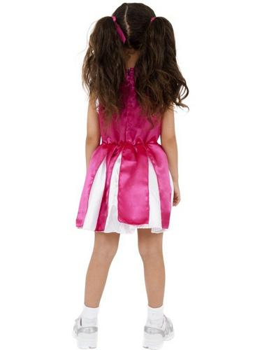 Girls Cheerleader Fancy Dress Costume Thumbnail 2