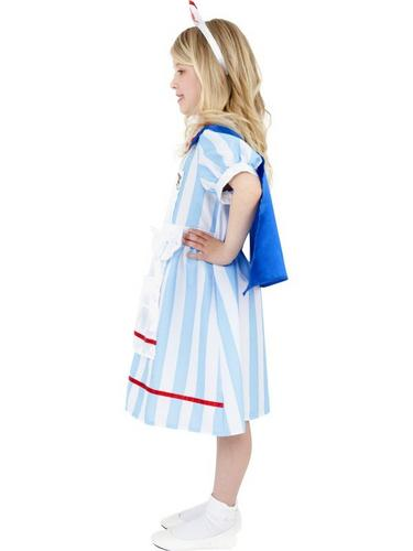 Girls Vintage Nurse Fancy Dress Costume Thumbnail 3