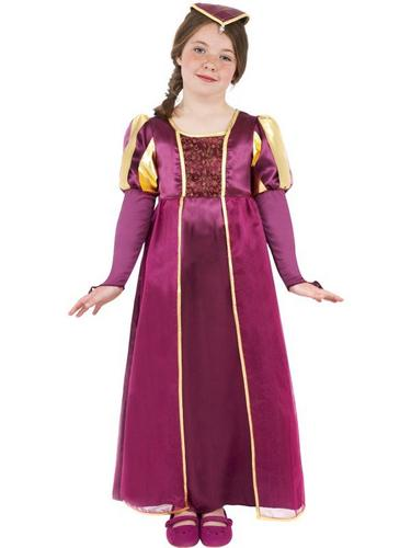 Tudor Girl Fancy Dress Costume Thumbnail 1