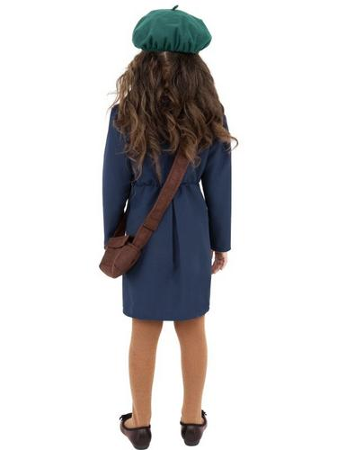 World War II Evacuee Girl Fancy Dress Costume Thumbnail 2