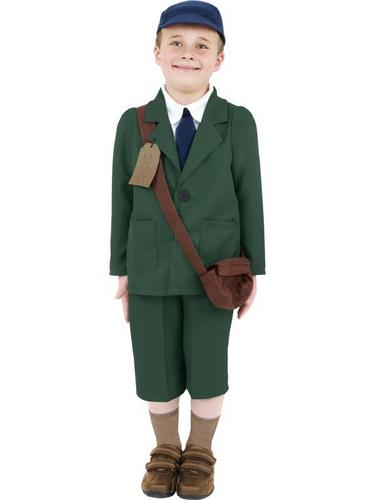 World War II Evacuee Boy Fancy Dress Costume Thumbnail 1