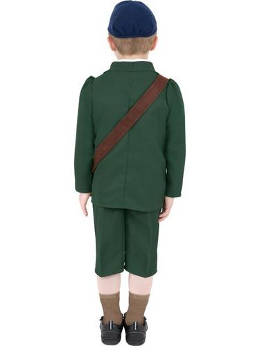 World War II Evacuee Boy Fancy Dress Costume Thumbnail 2