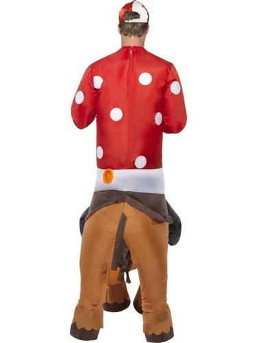 Inflatable Jockey and Horse Fancy Dress Costume Thumbnail 2