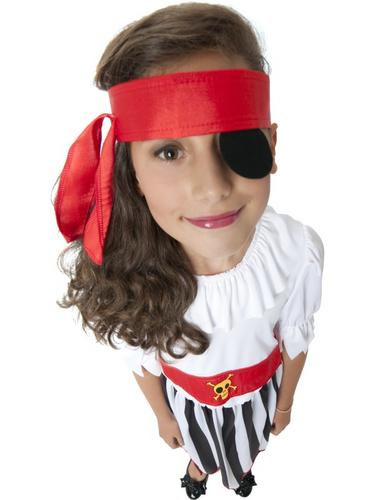 Girls Pirate Fancy Dress Costume Thumbnail 2