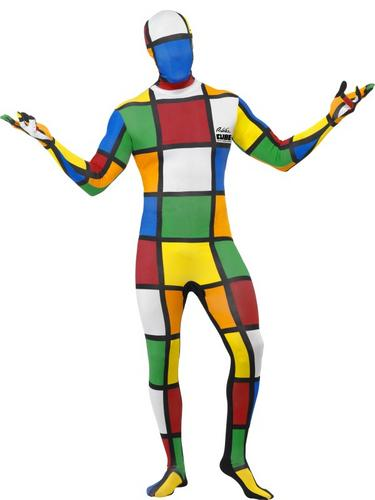 Rubiks Cube Second Skin Fancy Dress Costume Thumbnail 1