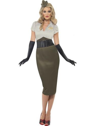 WW2 Army Pin Up Spice Darling Fancy Dress Costume Thumbnail 1