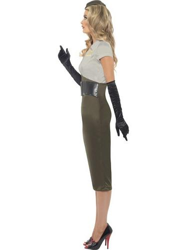 WW2 Army Pin Up Spice Darling Fancy Dress Costume Thumbnail 2