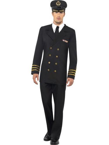 Navy Officer Fancy Dress Costume Thumbnail 1
