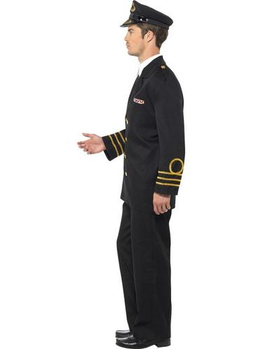 Navy Officer Fancy Dress Costume Thumbnail 3