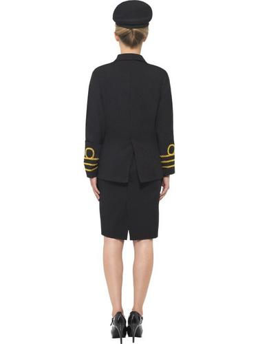Navy Officer Fancy Dress Costume Female Thumbnail 2