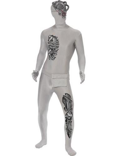 Robotic Second Skin Fancy Dress Costume Thumbnail 1