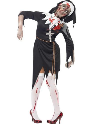 Zombie Bloody Sister Mary Fancy Dress Costume Thumbnail 1