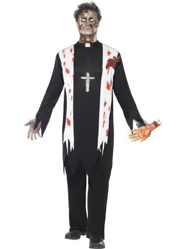Zombie Priest Fancy Dress Costume Thumbnail 1
