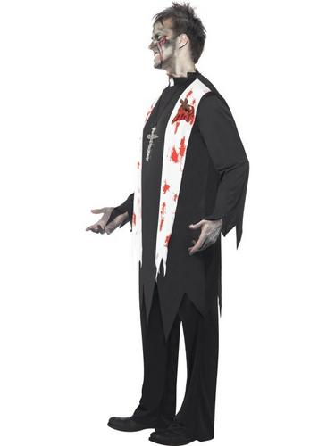 Zombie Priest Fancy Dress Costume Thumbnail 3