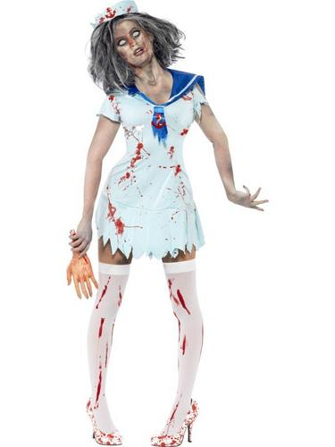 Zombie Sailor Fancy Dress Costume Female Thumbnail 1