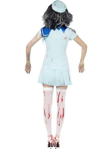Zombie Sailor Fancy Dress Costume Female Thumbnail 2