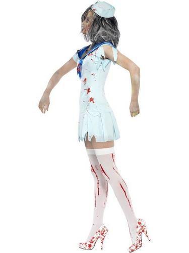 Zombie Sailor Fancy Dress Costume Female Thumbnail 3