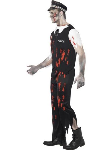 Zombie Policeman Fancy Dress Costume Thumbnail 3