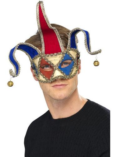 Venetian Musical Jester EyeFancy Dress Mask Thumbnail 1