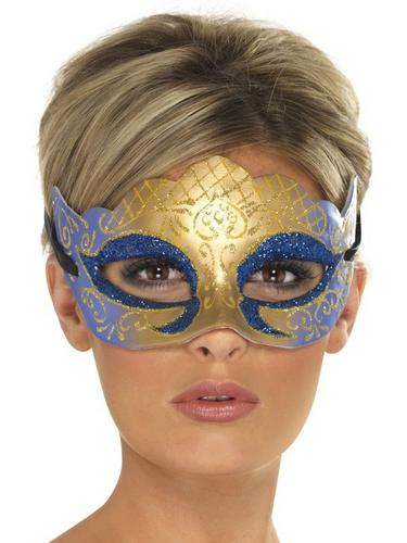 Venetian Colombina Farfalla Glitter Fancy Dress Mask Thumbnail 1